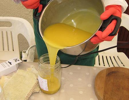 Les Belles de Savon-Fabrication-séparation de la pâte
