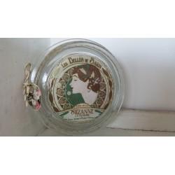 Porte savon artisanal en verre recyclé, Suzanne