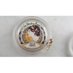 Porte savon artisanal en verre recyclé, Zélie