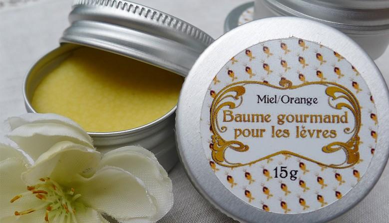 Baume gourmand miel/orange