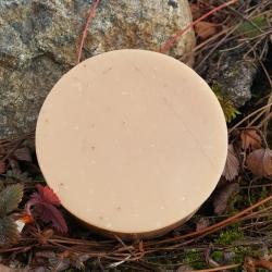 savon naturel vegan au lait d'avoine, beurre de karité, aloe vera et calendula. Sans parfum, ni allergènes