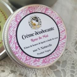crème déodorante et végane parfum rose de Mai 30 ml
