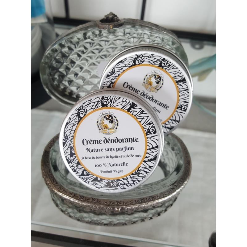 Crème déodorante nature sans parfum format familial 100 ml