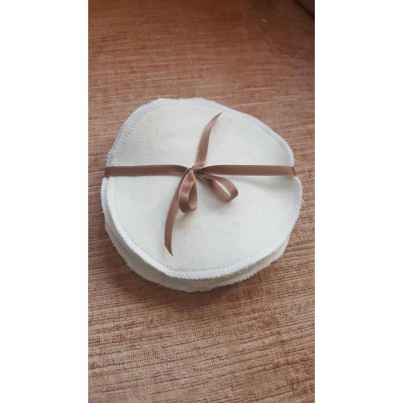 lingettes rondes par lotb de 6 en flanelle bio gots