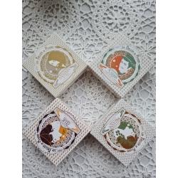 Gamme végane lot de 4 savons surgras et saponifiés à froid