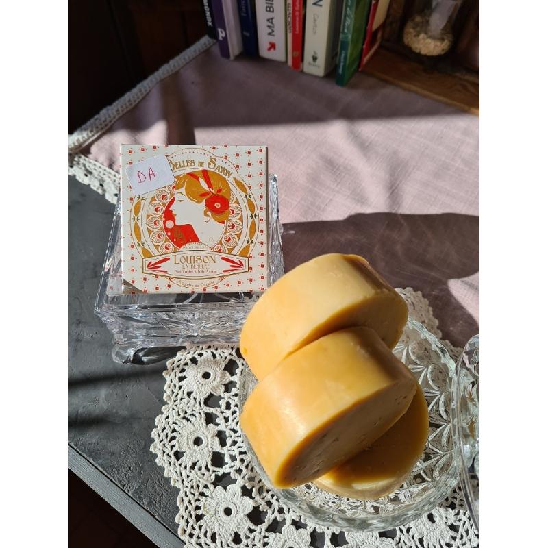 Louison L'Imparfait, savon déclassé pour défaut d'aspect ou poids réduit entre 90 g et 75 g
