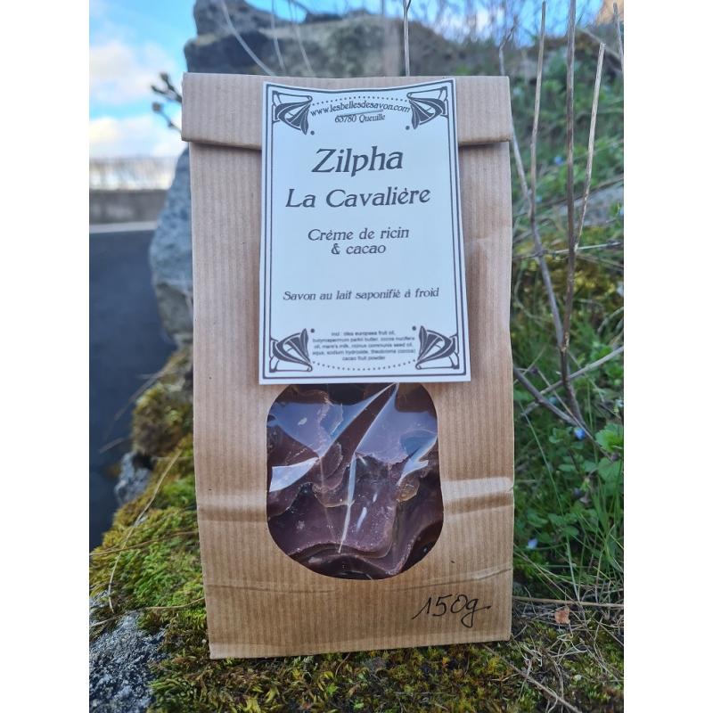 Sachet de 150 g de savons individuels Zilpha la Cavalière, vendus au poids