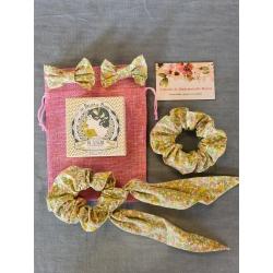 Pochette découverte savon et accessoires cheveux liberty Les Belles de Savon/ L'atelier de Mademoiselle Mayou