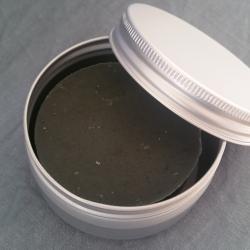 Savon naturel de rasage crème de ricin et charbon